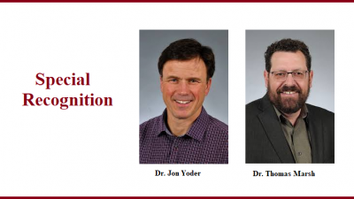 Pictures of Dr. Yoder and Dr. Marsh